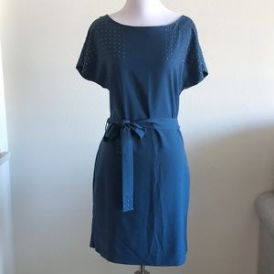 Armani Exchange blue embellished dress Small